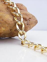 18k Золотое покрытие браслет 20см