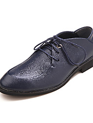 TPU Dark Blue Dress Shoes