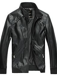 palaide Männergrund Stehkragen einfarbig Jacke