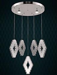 Crystal Pendant Lights , Modern/Contemporary Living Room Metal