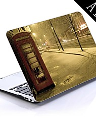Phone Booth And Falling Snow on The City Design Full-Body Protective Plastic Case for 11-inch/13-inch New MacBook Air
