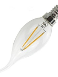2W E14 Ampoules à Filament LED CA35 2 COB 200 lm Blanc Chaud Gradable / Décorative AC 100-240 V