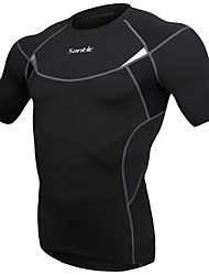 Running Tops / Jerseys / Compression Clothing Men's Short Sleeve Breathable / Quick Dry / Compression SpandexYoga / Camping & Hiking /