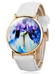 Women's Fashion Abstract Painting Students Wear Decorative Multicolor Watches