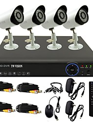 TWVISION® 8CH Channel 960H HDMI CCTV DVR 4x Outdoor 800TVL Security Camera System