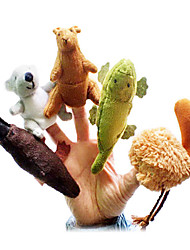 5PCS Australian Animal Plush Finger Puppets Kids Talk Prop