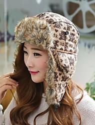 Women's Fashion Winter Bear Pattern Trapper Hat