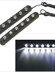 Carking™ Waterproof Flexible Eagle-eye 6SMD Car Decorative Daytime Running Light-Black(2PCS)