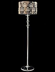 lámpara de pie de cristal con el lujo talla sombra 220v