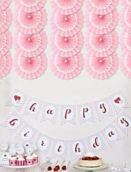 Wedding Décor Three Layers Of Paper Fan (More Colours) (20cm Diameter)