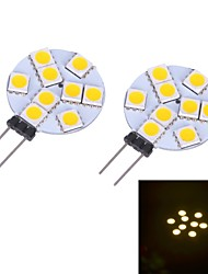 LED à Double Broches Blanc Chaud / Blanc Froid G4 2W 9 SMD 5050 LM DC 12 V