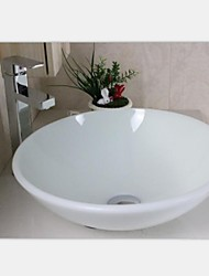 Contemporary Fynchenite Round Vessel Sink With Faucet ,Mounting Ring and Water Drain