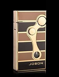 JOBON Creative Windproof  Metal  Butane Jet Gas Lighter Double Flame
