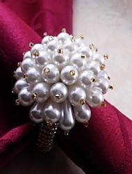 Christmas Ball Made Of Pearl Napkin Ring, Acrylic, 4.5CM, Set of 12