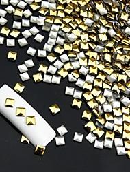 14400pcs do punk rebite quadrado decorações de arte liga prego -ouro / prata para escolher 3x3mm