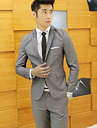 Men's Work Suit,Solid Regular Polyester