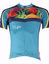 ILPALADINO Camisa para Ciclismo Homens Manga Curta Moto Respirável Secagem Rápida Resistente Raios Ultravioleta Blusas 100% Poliéster