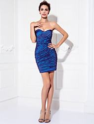 Cocktail Party / Prom Dress - Multi-color Plus Sizes / Petite Sheath/Column Sweetheart Short/Mini Stretch Satin