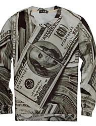 aller-boy t-shirt haut créatif mode 3d imprimé des hommes