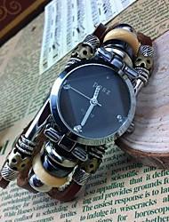 Women's Fashion High-grade Leather Quartz Movement Bracelet Watches