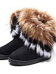 bromista de la manera del color puro de alta calidad antideslizante botas de nieve caliente de las mujeres