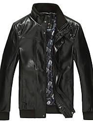 DG9003 Men's Fashion New Leather Coat