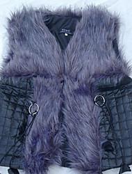 Luotiduodi New Western Styles Faux Fur Waistcoat