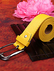 Yellow PU Belt