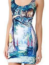 Alice and Cheshire Cat Skater Dress Night Club Uniform