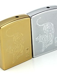 Personalized Engraving Tiger Pattern Metal Electronic Lighter