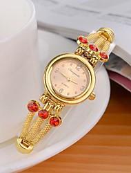 reloj de pulsera de cuarzo analógico de aleación de estilo de moda de las mujeres