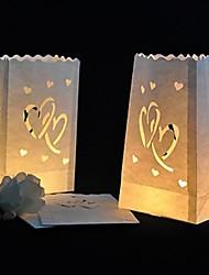 lampe de cœur découpe papier papier de luminaire (ensemble de 4)