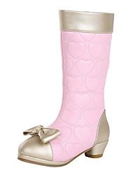 ДЕВУШКА - Ботинки (Черный /Розовый /Белый ) - Комфорт/Круглый носок/Модные ботинки