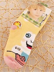 6pairs padrão sapo forma mais grossas de algodão meias infantis para 1-4 anos (cor colocação aleatória)