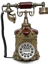 Bottle Design Europe Style Polyresin Material Home Decor Telephone with ID Display
