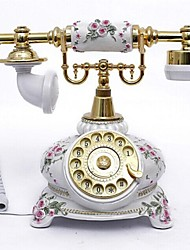 Novelty Country Style Polyresin Material Home Decor Telephone with ID Display