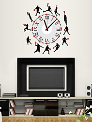 Wall Clock Stickers Wall Decals, Cool Basketball Athletes PVC Wall Stickers