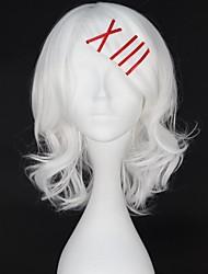 Pelucas de Cosplay Tokyo Ghoul Cosplay Blanco Corto Animé Pelucas de Cosplay 38 CM Fibra resistente al calor Hombre / Mujer