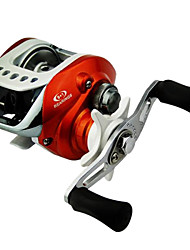 moulinet de pêche baitcasting gauche 0,285 / 110mm / m 9bb d'orange