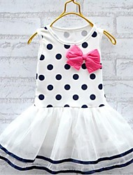 New Girl's Fashion Dot Bow Tutu Dress Dance Party Princess Kids Clothing Dresses