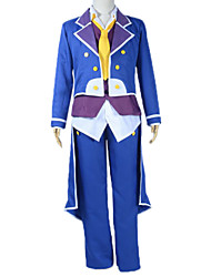 Inspired by No Game No Life Sora Anime Cosplay Costumes Cosplay Suits Patchwork Blue Long Sleeve Coat / Vest / Shirt / Pants / Tie