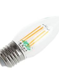 4W E26/E27 Lâmpadas de Filamento de LED C35 4 LED Dip 380 lm Branco Quente / Branco Frio Decorativa AC 220-240 V