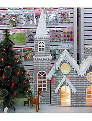 Christmas Ornaments Christmas Snow House ,Paper