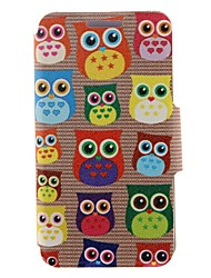 For Nokia Case Card Holder / Flip Case Full Body Case Owl Hard PU Leather Nokia Nokia Lumia 630