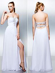 ts Couture® robe de soirée formelle, plus la taille / petite une ligne chérie parole longueur georgette avec perlage / avant split / fronces