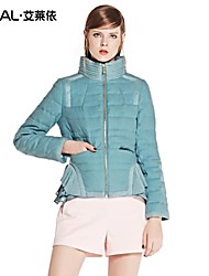 ERAL®Women's Winter Coat Slim Elegant Stand-collar Skirt-hem Short Down Jacket with Knitted Ruffles