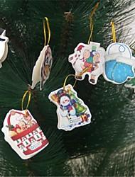 12pcs tarjetas con mensajes de decoración (imágenes aleatorias) del árbol de navidad
