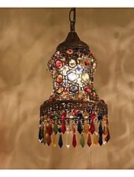 affleurant une lumière droplight classique restauration anciennes voies laiton antique verre métal pulvérisation de laque