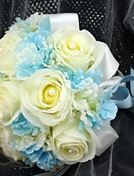 Wedding Flowers Round Roses Bouquets Wedding Silk