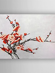 Hand Painted Modern  Floral Oil Painting with Stretched Frame Ready to Hang